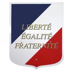 Ecusson porte drapeaux avec sigle Liberté Egalité Fraternité