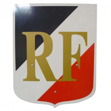 Ecusson porte drapeaux avec sigle République Française