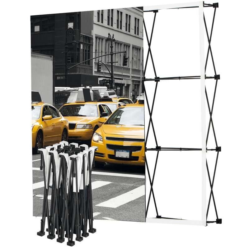 Stand parapluie personnalisé avec structure dépliable en aluminium