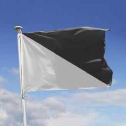 Drapeau véliplanchiste, drapeau plage noir et blanc
