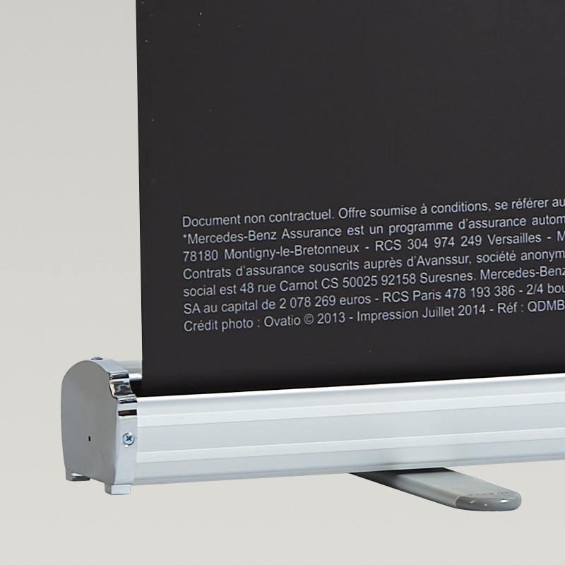 Kakémono personnalisé avec enrouleur en aluminium