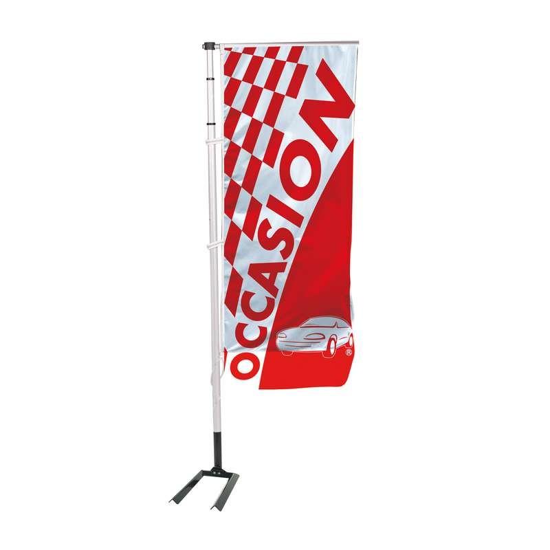 Kit drapeau OCCASION S2 avec mât et pied autocal