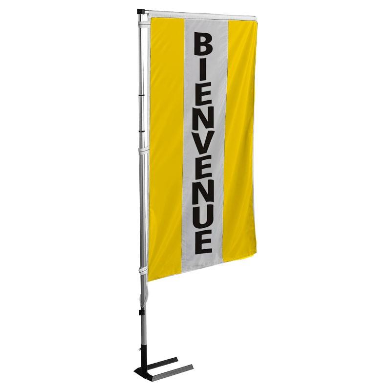 Kit complet drapeau avec m t et pied pavillon bienvenue for Plv garage automobile