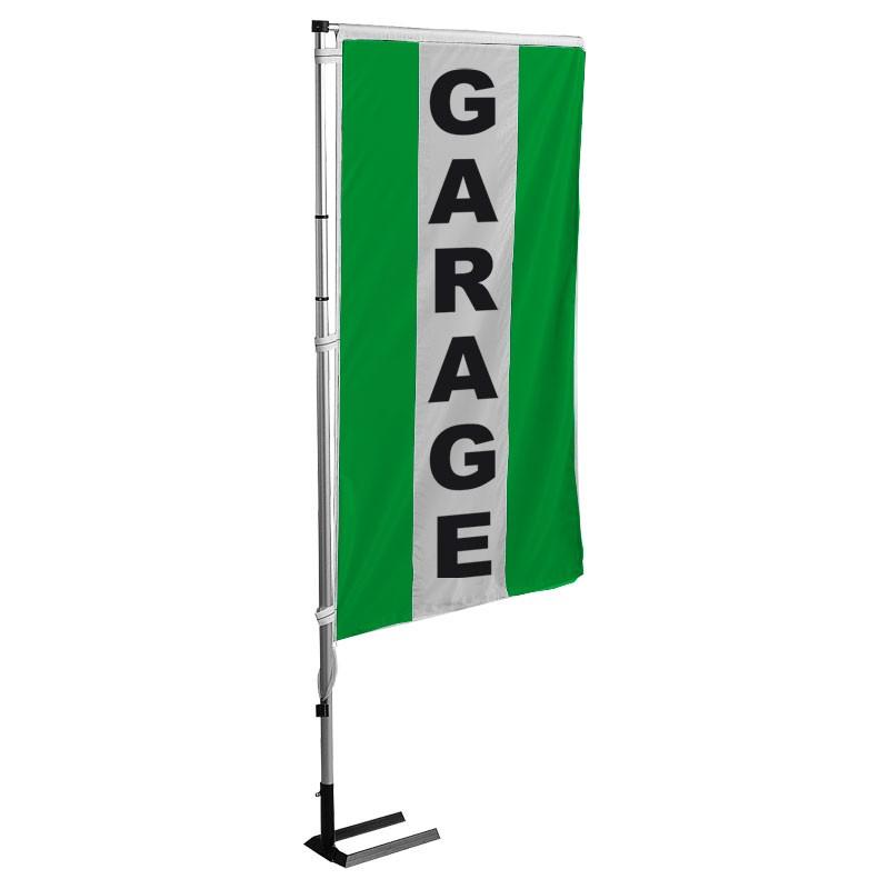 Kit drapeau GARAGE avec mât et pied autocal