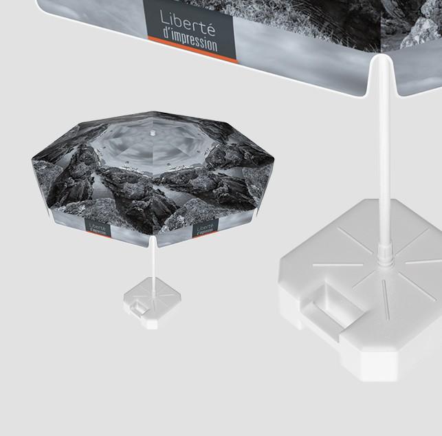 Parasol publicitaire rond diamètre 200cm