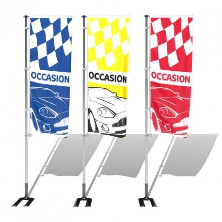 Kit avec drapeau pavillon occasion avec damier s1 pour for Garage parc auto auxerre