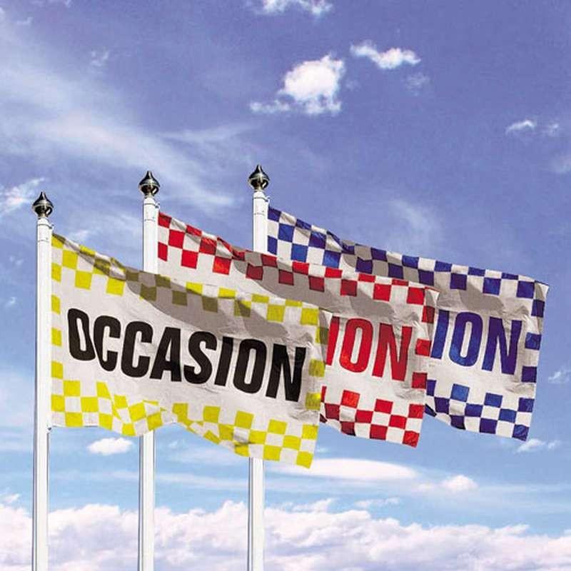 Pavillon drapeau occasion avec damier pour for Plv garage automobile