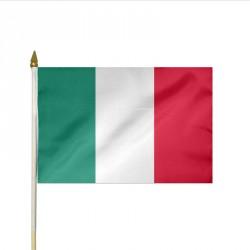 Drapeau à agiter 30 x 45 cm ITALIE, lot de 10ex