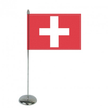 Drapeau de table Europrestige SUISSE en satin