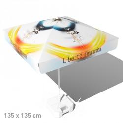 Parasol publicitaire carré 135x135cm