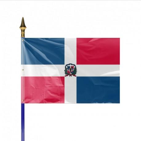 Drapeau pays REPUBLIQUE DOMINICAINE