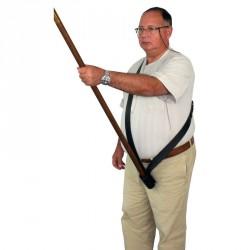 Baudrier porte drapeau en cuir