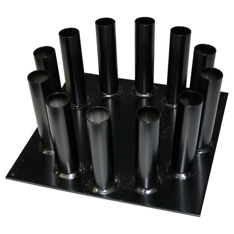 Socle métal noir avec mâts en bois Ø30 mm