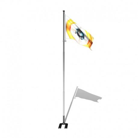Mât Télescopique Modèle éco Standard - Mat porte drapeau
