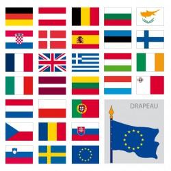 Kit des drapeaux de l'Europe, modèle drapeau