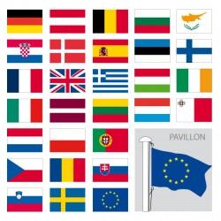 Kit des drapeaux de l'Europe, modèle pavillon