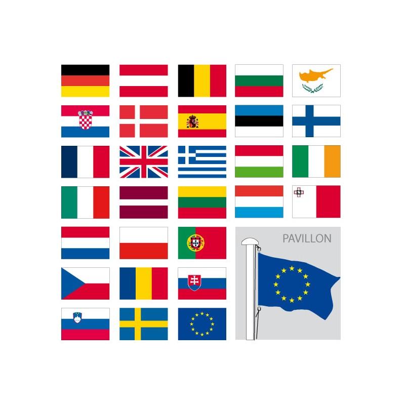 Bien connu Achat drapeau europeen - Pavillon de pays de l' europe - Faber France HR12