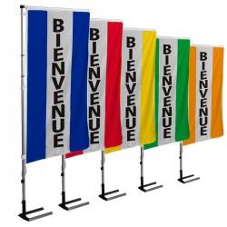 Kit drapeau BIENVENUE avec mât et pied autocal