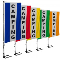 Kit drapeau CAMPING avec mât et pied autocal