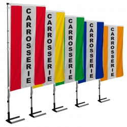Kit drapeau CARROSSERIE avec mât et pied autocal