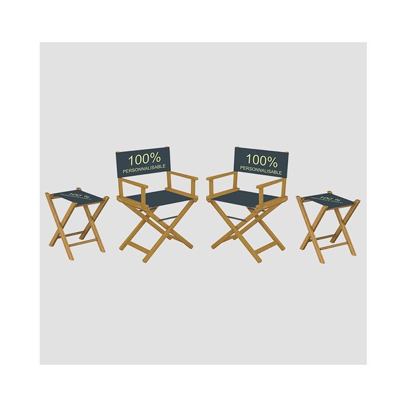 Kit pliant chaises et tabourets personnalisés