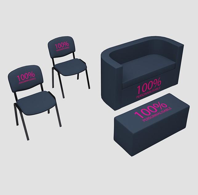 Kit accueil composé de 4 meubles personnalisables