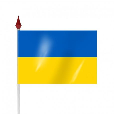Drapeau à agiter UKRAINE par sachet de 10