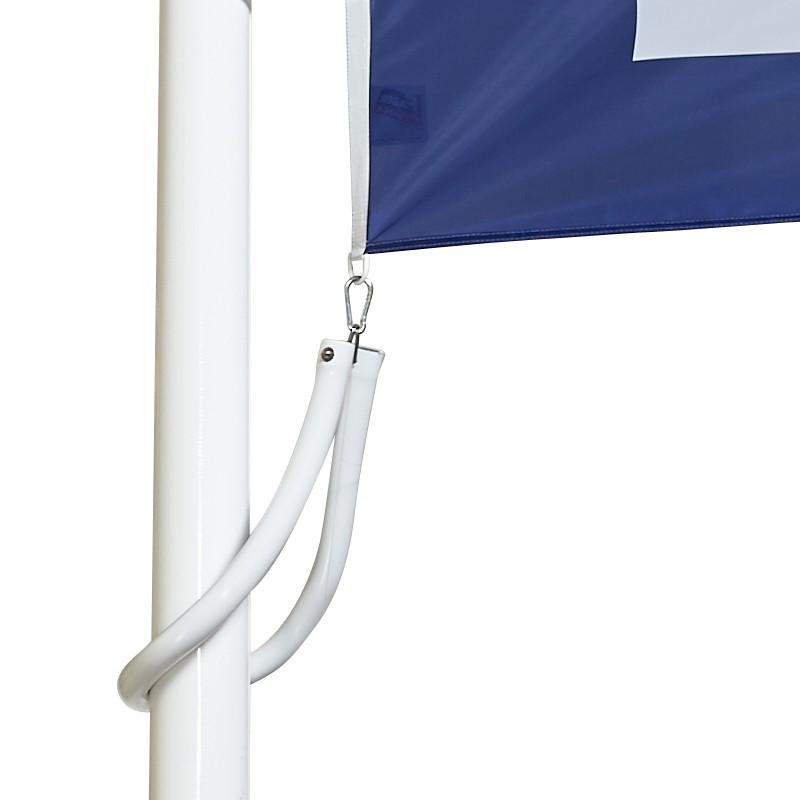 Drapeau personnalisé vertical pour mât fixe à potence