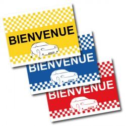 Drapeau de voiture BIENVENUE Format 30/45 cm