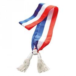 Echarpe tricolore pour l'adjoint au maire (Argent)