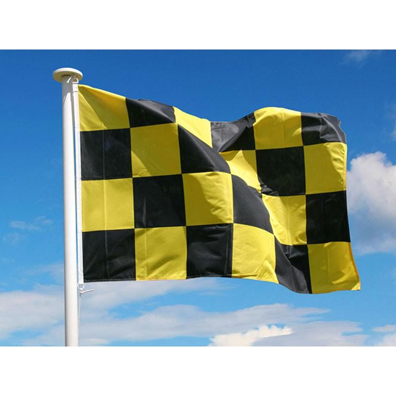 drapeau damier avalanche de signalisation