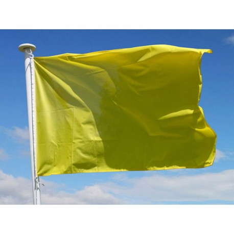 Drapeau avalanche uni jaune