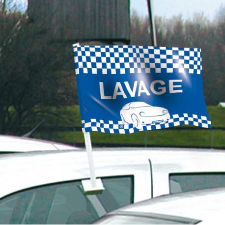 Drapeau de voiture LAVAGE Format 30/45 cm