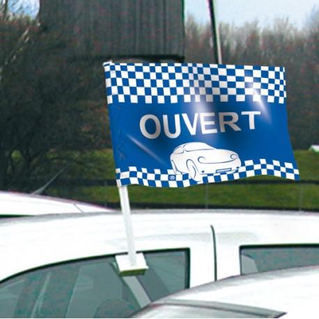 Drapeau de voiture OUVERT Format 30/45 cm