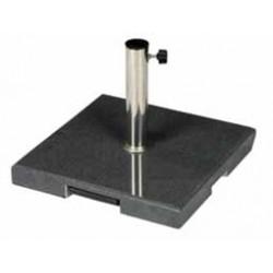 Pied de parasol granit 55Kg - carré, gris
