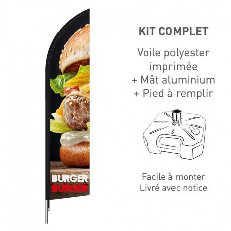 Kit beach flag Burger