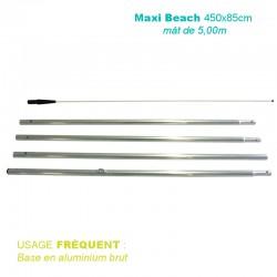 Mât Maxi Beach XL 5,00 m pour voile 450x85cm - usage fréquent
