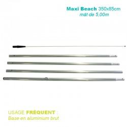Mât Maxi Beach 5,00 m pour voile 350x85 cm - usage fréquent