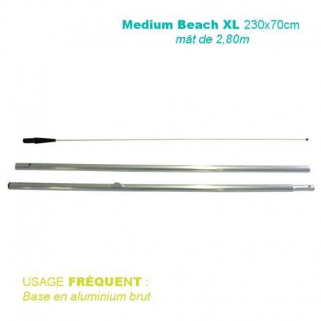 Mât Medium Beach XL 2,80 m pour voile 230x70 cm - usage fréquent