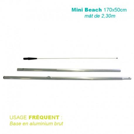 Mât Mini Beach 2,30m pour voile 170x50 cm - usage fréquent