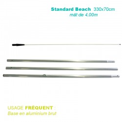 Mât Standard Beach 4,00m pour voile 330x70 cm - usage fréquent