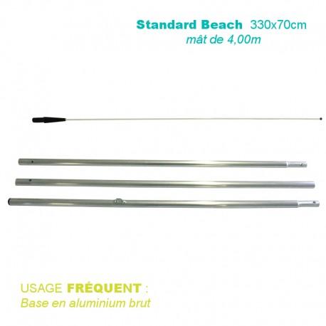 Mât Standard Beach 4,00 m pour voile 330x70 cm - usage fréquent