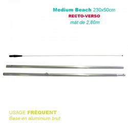 Mât BEACH 2.80 mètres pour beach flag 230x50cm
