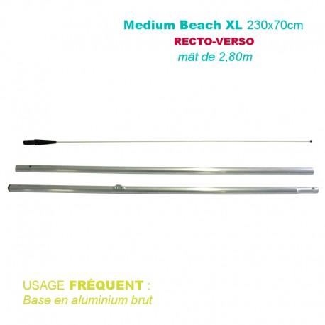 Mât BEACH 2.80 mètres pour beach flag 230x70cm