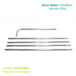 Mât ATLAS 4.50 mètres pour beach flag 370x85cm usage intensif