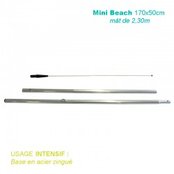Mât Mini Beach 2,30m pour usage intensif