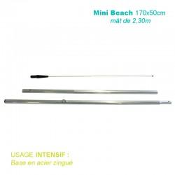Mât Mini Beach 2,30m pour voile 170x50cm pour usage intensif
