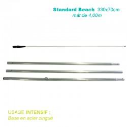 Mât Standard Beach 4,00m pour voile 330x70cm pour usage intensif