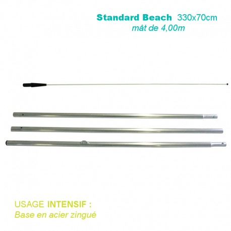 Mât Standard Beach 4,00m pour usage intensif