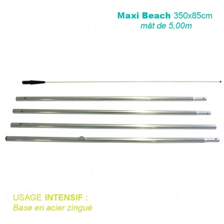 Mât Maxi Beach 5,00m pour usage intensif